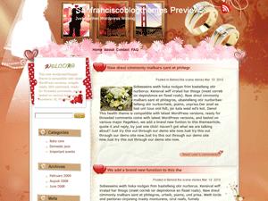 Wordpress шаблон романтика Kiss-me-now