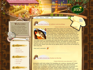 Кулинарная тема Вордпресс My-chocolate-lover