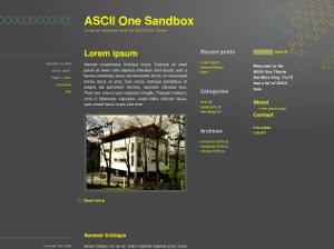 Бесплатный шаблон ASCII One
