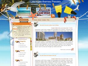 Wordpress тема туризм и развлечения Vegas-summer-beach