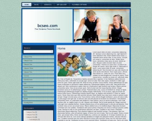 Шаблон WordPress фитнес и спорт Wp-fitness-no3