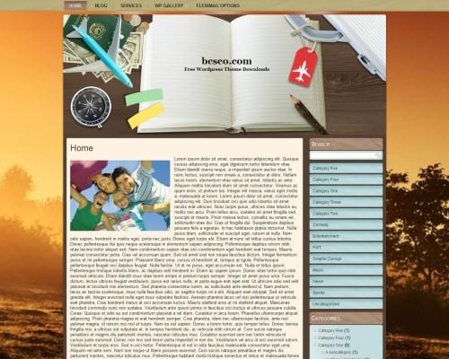 Wordpress тема путешествия Wp-travel-no3