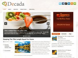 Женский шаблон Decada для WP