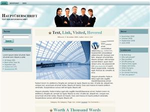 Бизнес тема Biz Lightgreen для WordPress