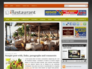 Кулинарный шаблон iRestaurant для WordPress