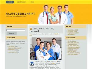 Медицинский шаблон Medico Orange для wordpress