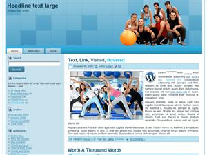Sports Blue спортивный шаблона для сайта на wp