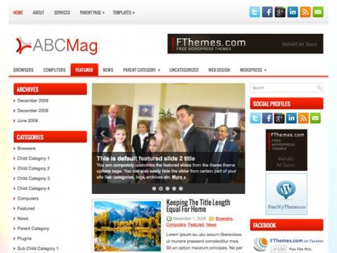 ABCMag – магия новостей тема WordPress