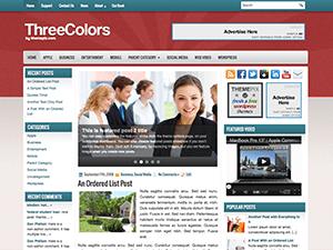 Бизнес тема WordPress ThreeColors