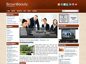 Бизнес тема WordPress BeautyBrown
