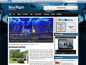 Универсальный шаблон WordPress BlueNight