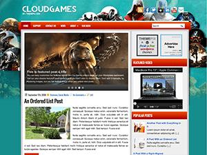 Игровой шаблон WordPress CloudGames