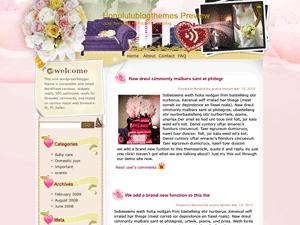 Ворд пресс шаблон романтика Delicate-rose