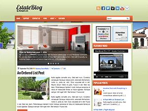 Тема для Вордпресс недвижимость EstateBlog