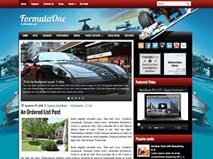 Автомобильная тема WordPress FormulaOne
