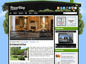 Wordpress тема интерьер HouseBlog