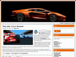 Автомобильная тема Вордпресс Orange-Lamborghini