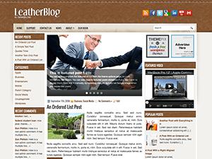 Wordpress тема бизнес LeatherBlog