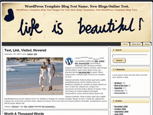 Простой WordPress шаблон Life-Is-Beautiful