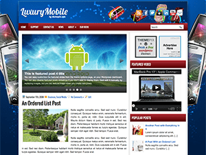 Wordpress шаблон гаджеты LuxuryMobile