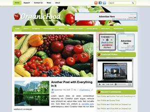 Вордпресс тема здоровое питание OrganicFood