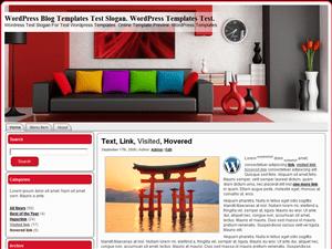 Wordpress шаблон интерьер Red-Room
