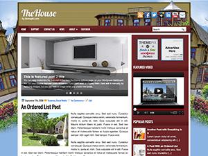 Wordpress тема интерьер TheHouse