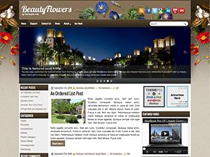 Универсальный шаблон WordPress BeautyFlowers
