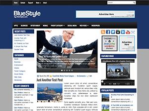 Бизнес шаблон WordPress BlueStyle