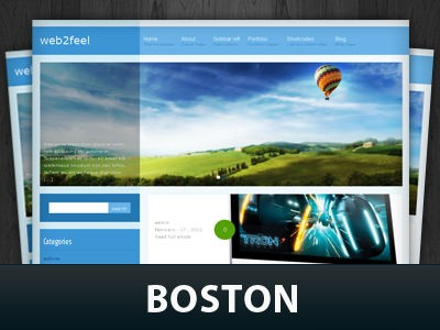 Универсальная WordPress тема Boston