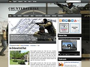 Wordpress тема игры CounterStrike