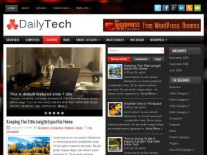 Шаблон для персонального блога на WordPress DailyTech