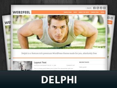 Универсальный WordPress шаблон Delphi