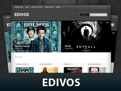 Wordpress шаблон слайдер Edivos