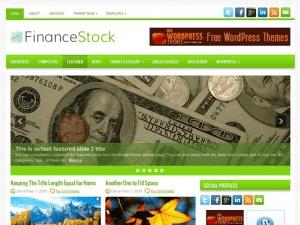 Финансовый шаблон Вордпресс FinanceStock