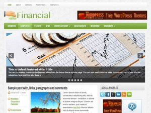 Wordpress тема финансы Financial