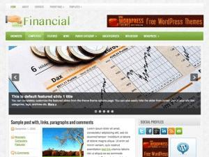 Wordpress тема финансы Financial