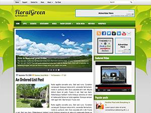Светлая тема WordPress FloralGreen
