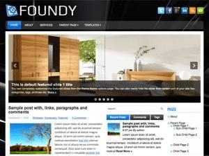 Wordpress шаблон интерьер Foundy
