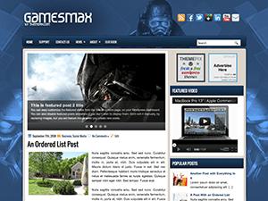 Wordpress тема игры GamesMax
