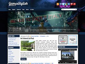 Wordpress шаблон игры GamesStylish