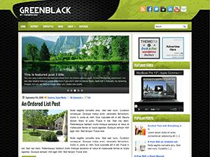 Wordpress тема галерея GreenBlack