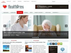 Вордпресс тема здоровье HealthPress