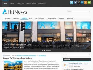 Новостная тема WordPress HitNews