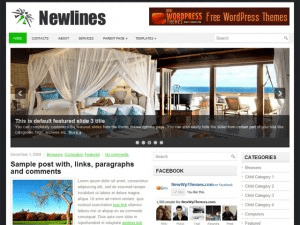 Wordpress шаблон слайдер Newlines
