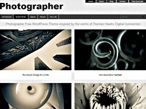 Шаблон WordPress фото Photographer