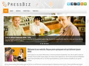 Бизнес тема WordPress PressBiz