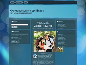 Transparent Blue прозрачный щаблон для WordPress