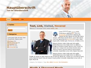 Бизнес тема Office Orange для Вордпресс