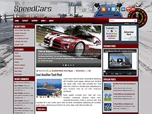 Авто тема Вордпресс SpeedCars